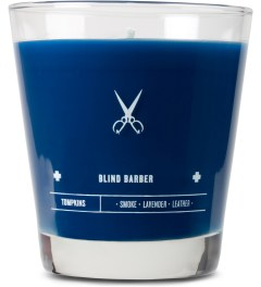 Blind Barber Grooming Tompkins Small Candle Picutre