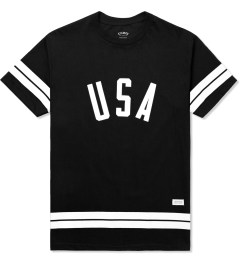 Stampd Black USA Stripe T-Shirt Picture