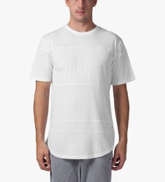 Stampd White Speckled Panel T-Shirt Model Picture