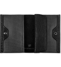 POSTALCO Black Geology Goatskin Card & Coin Wallet Model Picture