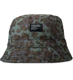 Stussy Olive Cheetah Camo Bucket Hat Picutre