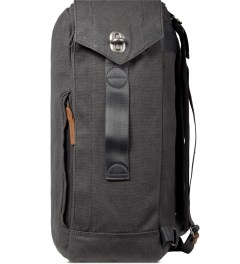 QWSTION Washed Grey Backpack Model Picture