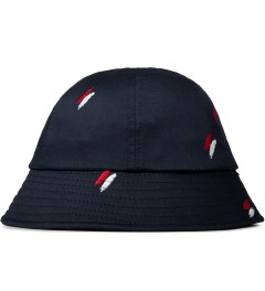 Publish Navy Oliver Quill Shadow Embroidery Bucket Hat Picture