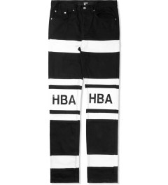 Hood By Air. Black/White Hockey Jeans Picture