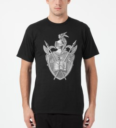 Black Scale Black Knighted Crest T-Shirt Model Picture