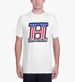 HUF White United T-Shirt Model Picture