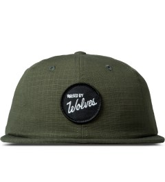 Raised by Wolves Army Green Varsity Circle Polo Cap Picutre