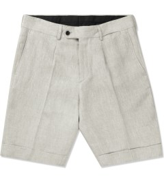 A. Sauvage Stone Classic Fit Linen Shorts Picture