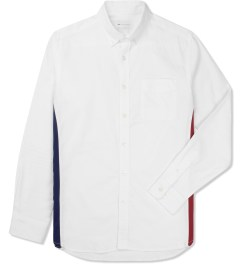 Liful White Oxford Colorblock Shirt Picture