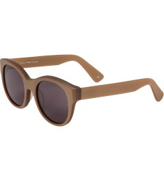 SUNDAY SOMEWHERE Matte Metallic Gold Paris Sunglasses Model Picutre