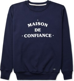 Bleu De Paname Bleu Nuit Uni Maison Sweater Picutre