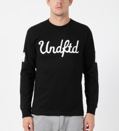 Undefeated Black 5 Script L/S T-Shirt Model Picture