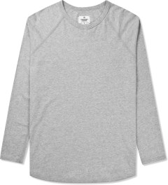 Reigning Champ Heather Grey Solid Jersey L/S Raglan T-Shirt Picture