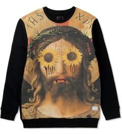 i love ugly. Black Illuminati Crewneck Jersey Sweater Picutre