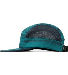 HUF Navy Woodgrain Scout Volley Cap Model Picture