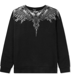 Marcelo Burlon Black/White Alas Agua Crewneck Sweater Picture