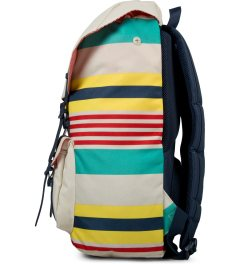 Herschel Supply Co. Malibu Stripe/Bone/Navy Rubber Little America Backpack Model Picutre