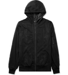 Stampd Black Mesh Nylon Zip Up Hoodie Picutre
