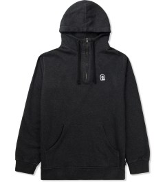 Rockwell by Parra Black Horse Face Hooded 1/4 Zipper Sweater Picture