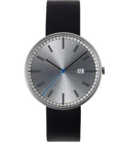 Uniform Wares Brushed/Black Leather 203 Series Calendar Wristwatch Picture