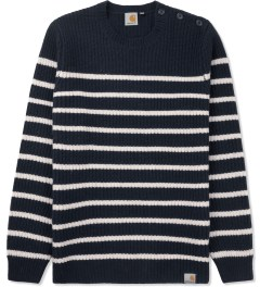 Carhartt WORK IN PROGRESS Jet Sellers Stripe Sweater Picutre