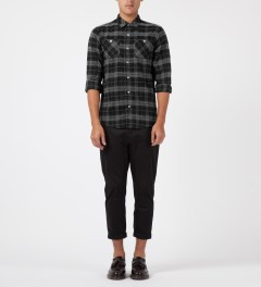 Benny Gold Grey Academic Flannel L/S Shirt Model Picture