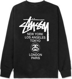 Stussy Black World Tour Crewneck Sweater Picture