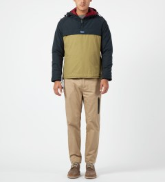 Penfield Navy/Tan ELK Pullover Hooded Anorak Model Picture