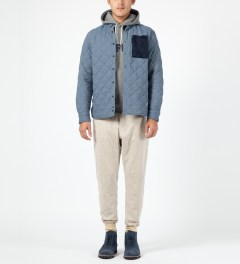 Penfield Blue Harrison L/S Quilted Shirt Model Picture