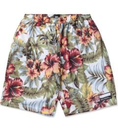 Stussy Natural Island Flower Mesh Shorts Picutre