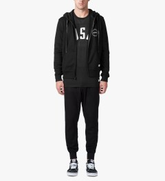 Stampd Black Stampd Seal Zip Up Hoodie Model Picture