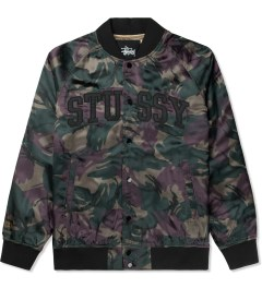 Stussy Wine Camo Satin Bomber Jacket Picture
