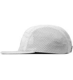 Publish White Jinan Jersey Mesh 5-Panel Camper Cap Model Picutre