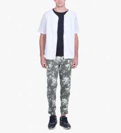 HUF Black Floral Sweatpants Model Picture