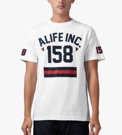 ALIFE White 158 Athletics T-Shirt Model Picutre