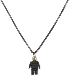 Icon Brand Black/Gold Miniature Moveable Toy Pendant Necklace Picture