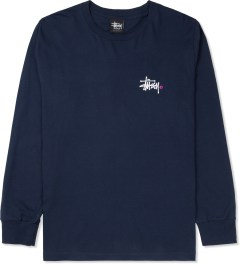 Stussy Navy Basic Logo L/S T-Shirt Picture