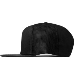 Stampd Black Mesh Side Panel Snapback Cap Model Picture