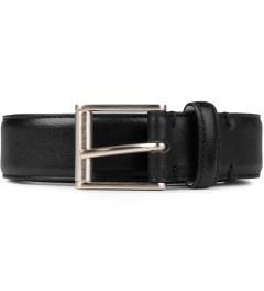Thom Browne Black Pebbled Grain Calfskin Belt Picutre