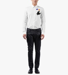 KRISVANASSCHE White Classic Patches Shirt Model Picutre
