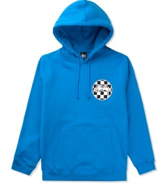 Stussy Brite Blue Checks Stock Pullover Hoodie Picutre