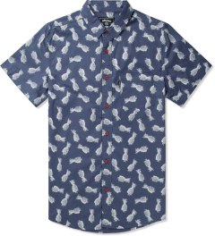 Grand Scheme Blue Pineapple S/S Shirt Picutre
