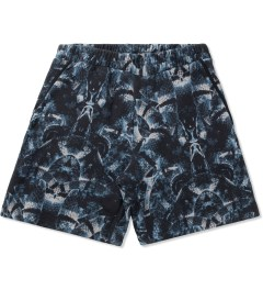 Marcelo Burlon Black/Blue Snake Print Allover Sweatshorts Picture