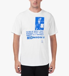 Midnight Studio White Phenom Pocket T-Shirt Model Picutre