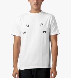 Black Scale White Arch Base T-Shirt Model Picutre