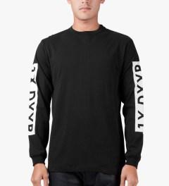 10.Deep Black Triple Box L/S T-Shirt Model Picutre