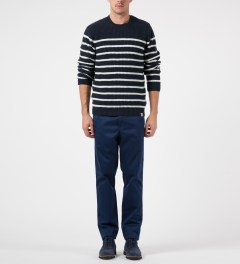 Carhartt WORK IN PROGRESS Jet Sellers Stripe Sweater Model Picutre
