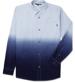 The Quiet Life Blue Dip Dye Oxford Shirt Picture