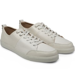 HAERFEST Ivory Cowhide w/ Off White Cowhide AE16 Leather Trainers Model Picture