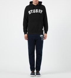 Stussy Navy World Tour Sweatpants Model Picture